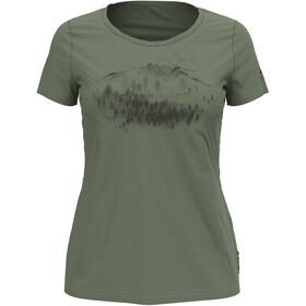 Odlo Concord Element T-Shirt S/S Crew Neck Women, matte green/graphic